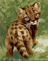 """Картина по номерам """"Котенок леопарда"""" (300х400 мм)"""