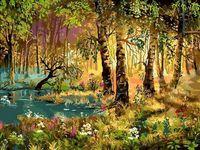 """Картина по номерам """"Утро в лесу"""" (300х400 мм)"""