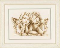 """Вышивка крестом """"Мечтающие ангелочки"""" (250x180 мм)"""