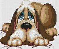 "Алмазная вышивка-мозаика ""Грустный пёс"" (400х350 мм)"