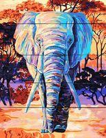 """Картина по номерам """"Яркий слон"""" (400х500 мм)"""