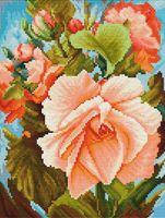 """Вышивка крестом """"Роза"""" (185x245 мм)"""