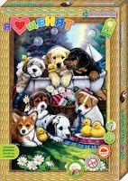 "Картина-аппликация ""Я люблю щенят"""