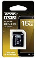 Карта памяти micro SDHC 16GB GOODRAM Class 10 UHS-1 (+адаптер)