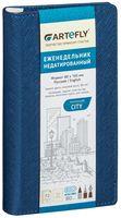 """Еженедельник недатированный """"City"""" (80x160 мм; синий)"""