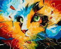 "Картина по номерам ""Кошка. Абстракция"" (400х500 мм)"