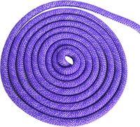 Скакалка для художественной гимнастики Pro (3 м; фиолетовая с люрексом)