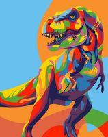 """Картина по номерам """"Радужный динозавр"""" (165х130 мм)"""