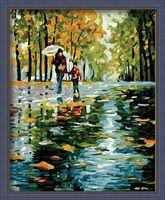 """Картина по номерам """"Осенний дождь"""" (400х500 мм)"""