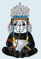 "Алмазная вышивка-мозаика ""Хиппи панда"" (270х380 мм)"
