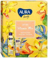 """Подарочный набор """"Aura beauty. Vitamin Mix"""" (гель для душа, крем для рук)"""