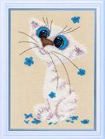 """Вышивка крестом """"Кошка-крошка"""" (120х180 мм; арт. 1020В)"""