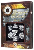 """Набор кубиков """"Стимпанк. Clockwork"""" (7 шт.; бело-черный)"""