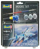 """Сборная модель """"Истребитель Suchoi Su-27 Flanker"""" (масштаб: 1/144)"""