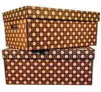 "Набор коробок ""Kardeco"" (2 шт.; коричневые; арт. GFK001g)"