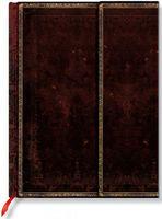 """Записная книжка Paperblanks """"Черная Марокканская кожа"""" в линейку (формат: 180*230 мм, ультра)"""