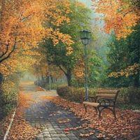 """Алмазная вышивка-мозаика """"Осенью в парке"""" (500х500 мм)"""