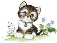 """Алмазная вышивка-мозаика """"Малыш-котенок"""" (300х250 мм)"""