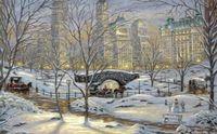 """Алмазная вышивка-мозаика """"Зима в Нью-Йорке"""" (600х400 мм)"""