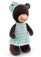 """Мягкая игрушка """"Медведь Milk в платье цвета мяты"""" (30 см)"""