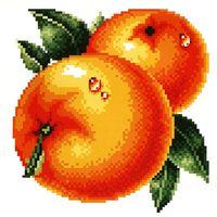 """Вышивка крестом """"Сочные апельсины"""" (145x150 мм)"""
