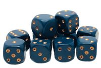 """Набор кубиков D6 """"Опак"""" (12 мм; 12 шт.; темно-синий)"""