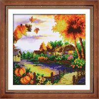 "Вышивка бисером ""Осенний пейзаж"""