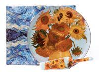 """Набор посуды для торта """"Ван Гог. Подсолнухи"""" (2 предмета)"""