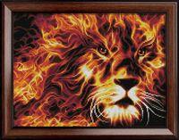 """Алмазная вышивка-мозаика """"Огненный лев"""" (400х300 мм)"""
