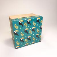 "Подарочная коробка ""Тукан"" (13х13х8 см; крафт)"