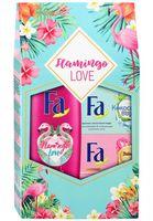"""Подарочный набор """"Flamingo Love"""" (гель для душа, 2 мыла)"""