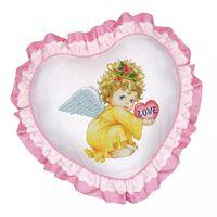 """Вышивка крестом """"Подушка. Маленький ангел"""""""