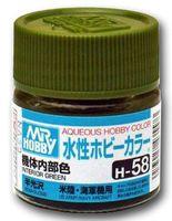 Краска Aqueous Hobby Color водоразбавляемая (interior green, H-58)