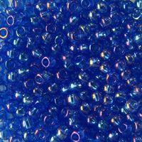 Бисер прозрачный №31050 (синий, радужный; 10/0)