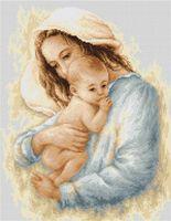 """Вышивка крестом """"Мать и дитя"""" (210х265 мм)"""