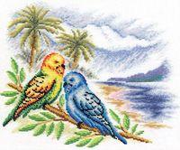 """Набор для вышивания """"Волнистые попугайчики"""" (300х250 мм)"""