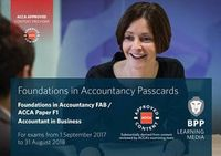 FIA Foundations of Accountant in Business FAB (ACCA F1). Passcards