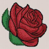 "Алмазная вышивка-мозаика ""Бутон розы"" (200х200 мм)"