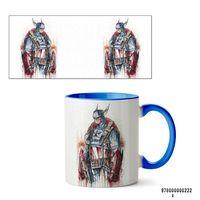 """Кружка """"Капитан Америка из вселенной MARVEL"""" (222, голубая)"""
