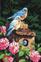 "Картина по номерам ""Семейство птиц"" (400х500 мм)"