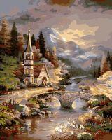"Картина по номерам ""Замок в лесу"" (400х500 мм)"