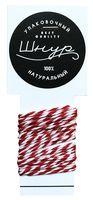 Шнур декоративный (2 м; красно-белый)