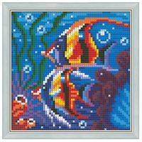 "Алмазная вышивка-мозаика ""Обитатели рифа"" (150х150 мм)"
