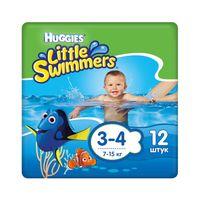"Подгузники для плавания ""Huggies Little Swimmers Small 3-4"" (7-15 кг; 12 шт)"