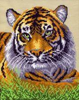 """Канва с нанесенным рисунком """"Туранский тигр"""""""