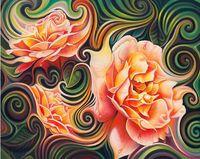 """Алмазная вышивка-мозаика """"Розы в абстракции"""" (500x400 мм)"""