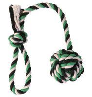 """Игрушка для собаки """"Веревка с узлом и ручкой"""" (50 см)"""