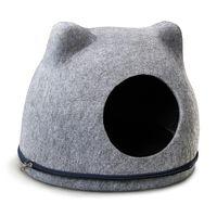 """Домик для кошек """"Кошкин дом"""" (34x43x34 см; серый)"""
