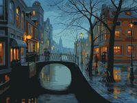 "Картина по номерам ""Вечер в городе"" (400х500 мм)"