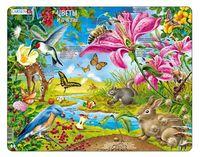 """Пазл-рамка """"Цветы и пчёлы"""" (55 элементов)"""